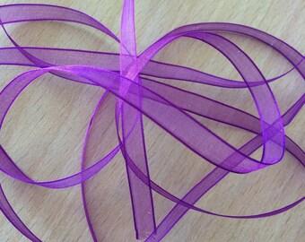 Purple chiffon Ribbon 232 light and translucent