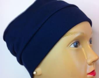 100% Cotton Adult Large Dark Navy Blue Hat
