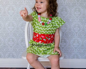 Christmas peasant dress with sash your choice of fabrics and colors Free Monogramming