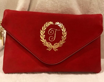 12 x 8 clutch purse with gold chain strap