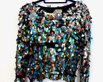 1980s Sequin Covered Sweater - Christmas/Party Wear