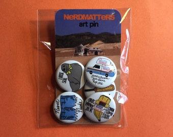 ARRESTED DEVELOPMENT Inspired Pinback Button Set 5 Pack
