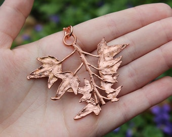 Copper Electroformed Ivy Vine Necklace