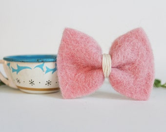 Bow Hair Clips - Multiple Colors - Felt Bows - Cute Little Girl Bow