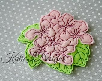 ITH Hydrangea Flower Feltie Machine Embroidery Design Pattern Download In The Hoop Felties Hydrangeas Flowers Oversized