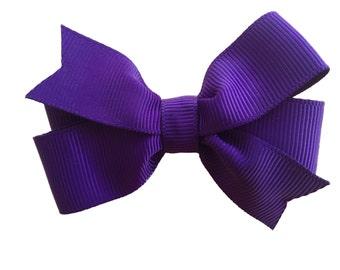 Dark purple hair bow - hair bow, hair bows, baby bows, toddler bows, girls bows, hair bows for girls, pigtail bows, baby hair bows, bows