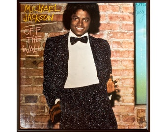Glittered Michael Jackson Off the Wall Album