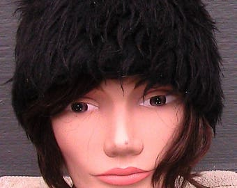 60s fake fur hat