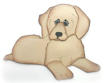 premade paper piecing puppy dog Labrador retriever  scrapbooking embellishment by My tear bears by Kira