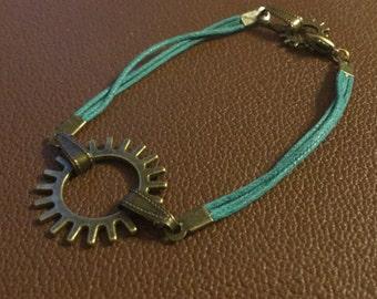 Steampunk Bronze Bracelet