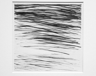 River Surface III - graphite drawing (in mount)