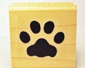 Cat Paw Print Rubber Stamp #466