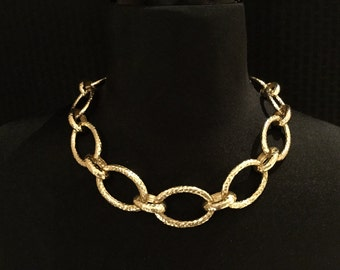 Vintage Oval Link Chain Necklace
