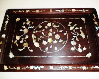 131--Antique Chinese Ming Dy. Hainan Huanghuali 海南黄花梨 tea tray