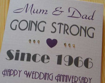 Wedding Anniversary Handmade Personalised Card - Going Strong Since