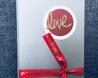Happy Valentine's Day cards , Love cards , handmade cards