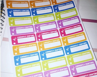 Currently crafting planner stickers great for most planners happy planner etc