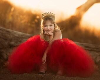 Red Flower Girl Dress, Red Tutu Dress, Red Tulle Dress, Red Dress, Red Wedding, Red