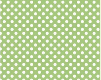 Small Dots Green - Fat Quarter  Cut - Riley Blake Designs - Cotton Fabric - Dots Fabric