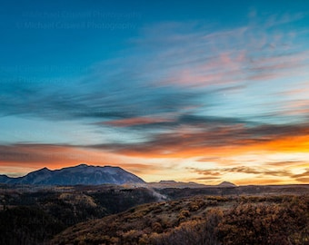 Crested Butte Sunset Fine Art Panoramic Print