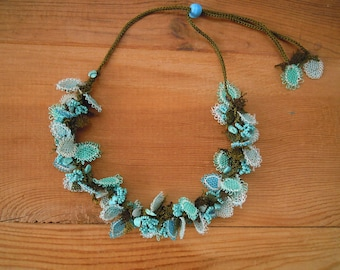 turquoise oya necklace
