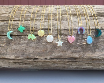 The Original Opal Starr Charms - opal charms, benefits charity, opal necklace, gold necklace, opal jewelry
