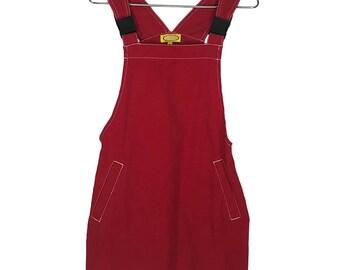 90s Red Romper Dress