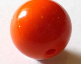 1 round bead 12mm orange AR314 orange