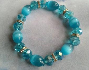 Blue catseye bracelet