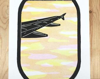 Airplane Decor, Block Print, Aviation Gifts, Airplane Nursery, Flight Attendant Gift, Pilot Gift, Aviation Art, Airline Poster, Traveler