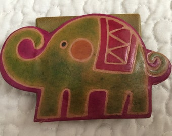 Small Elephant Coin Purse Snap Closure