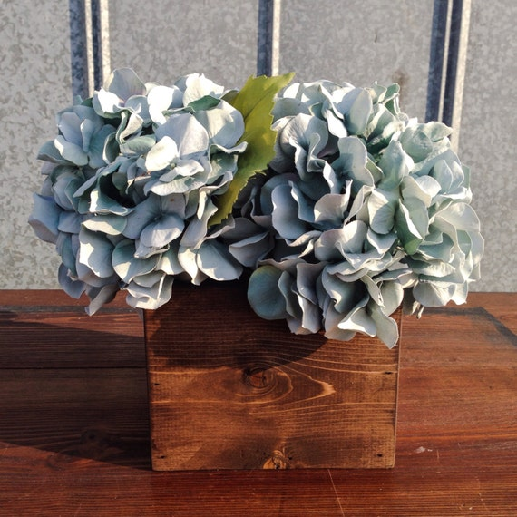 Square Wood Box Wedding Centerpiece Rustic Barn