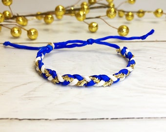 Braided Silk Bracelet - Royal