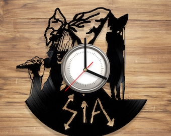 Sia Vinyl Wall Clock Music Singer Chandelier Artist Perfect Art Decorate Home Style UNIQUE GIFT idea for Him Her (12 inches)