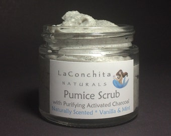 Luxurious Exfoliating Pumice Scrub for Dry Rough Skin - No Parabens, No Oily Residue, Skin Softening Foot Scrub for DIY Home Spa Day, SAMPLE