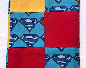 Superman Semi Quilt Baby Blanket
