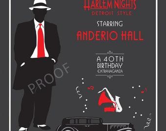Harlem Nights 8' X 8' BANNER/BACKDROP