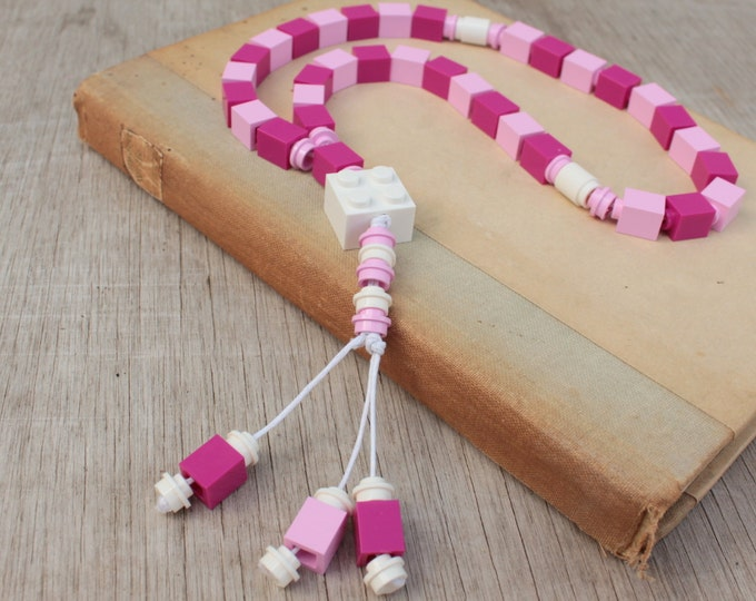 Lego Tasbih Islamic Prayer Beads - pink for kids girls Muslim Eid Gift