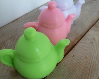10 My Little Tea Pot Soaps - 2.80oz - Pick your own colour & scent - Birthday parties - Bridal shower - Baby shower - Favours - Tea Party