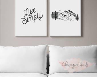 Outdoor Print, Minimalist Wall Art, Printable Wall Art, Printable Art, Printable Quote, Instant Download, Wall Decor, Adventure Poster
