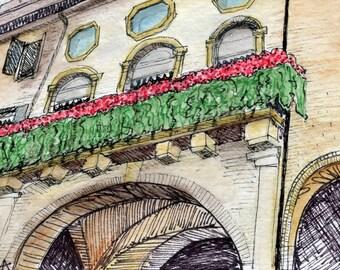 Building in Padua Postcard
