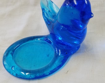Handblown Bluebird of Happiness candle holder c- 1