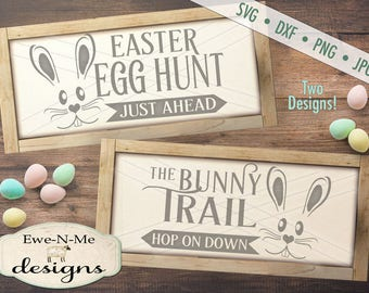 Easter SVG - Bunny Trail svg - Egg Hunt SVG - Bunny Face svg -  happy easter svg - Easter Bundle SVG - Commercial Use svg, dxf, png, jpg