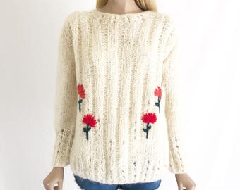 Vintage 60's Mod Mohair Sweater