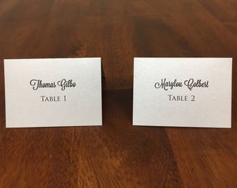 Personalized Place Cards Folded Place Cards - Printed from your Excel Spreadsheet