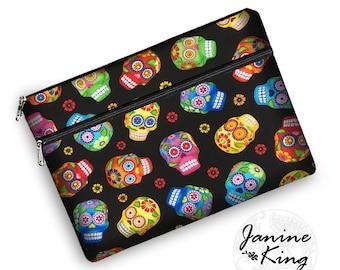 macbook pro 13 case, cute sugar skulls tablet case, laptop bags for women, iPad Pro 12.9 Case, macbook pro case, 13 inch laptop sleeve,  RTS