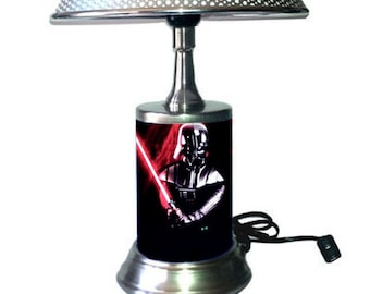 Table Lamp with shade, Darth Vader Lamp with chrome shade