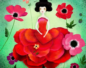 Anemone - open edition print - Whimsical Art