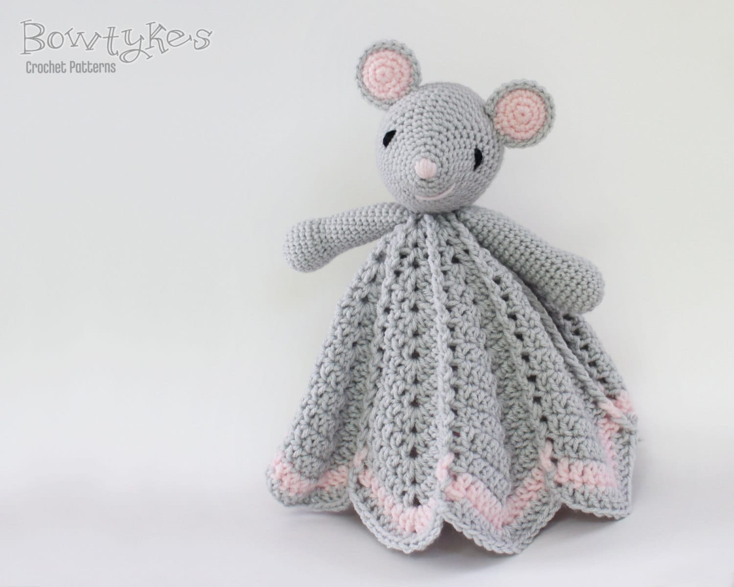Wee Mouse Lovey CROCHET PATTERN instant download blankey
