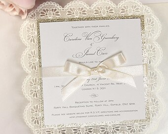 Invitation frame Etsy
